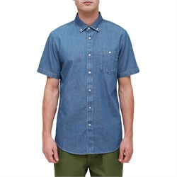 Obey Clothing Keble Denim Woven Short-Sleeve Shirt