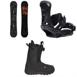 Burton Amplifier Snowboard 2018 + Custom EST Snowboard Bindings  + Moto Boa R Snowboard Boots 2018
