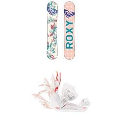 Roxy Glow Snowboard - Women's + Roxy Rock-It Dash Snowboard Bindings - Women's 2019