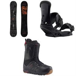 Burton Amplifier Snowboard + Burton Custom EST Snowboard Bindings + Burton Ruler Snowboard Boots 2018