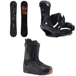 Burton Amplifier Snowboard 2018 + Custom EST Snowboard Bindings  + Ruler Snowboard Boots 2018