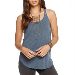 Chaser Vintage Rib Lace-Back Racerback Tank Top - Women's