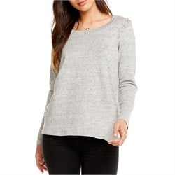 Chaser Linen Jersey Lace-Up Shirt - Women's