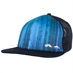 Spacecraft Foggy Forest Trucker Hat