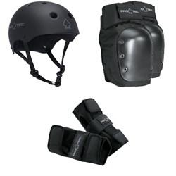 Pro-Tec The Classic EPS Skateboard Helmet + Pro-Tec Street Skateboard Knee Pads + Pro-Tec Street Skateboard Wrist Pads