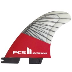 FCS II Accelerator PC Carbon Small Tri Fin Set