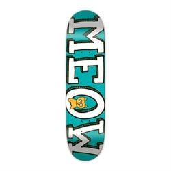 Meow Logo Teal 8.0 Skateboard Deck