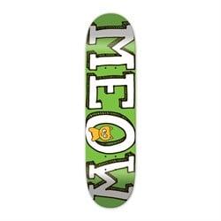 Meow Logo Green 8.25 Skateboard Deck