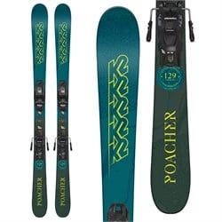 K2 Poacher Jr Skis + Marker FDT 4.5 Bindings - Little Boys'