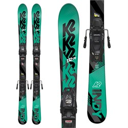K2 Indy Skis ​+ Marker FDT 4.5 Bindings - Little Boys'