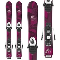 Salomon QST Lux Jr Skis XS ​+ C5 SR Bindings - Little Girls' 2019