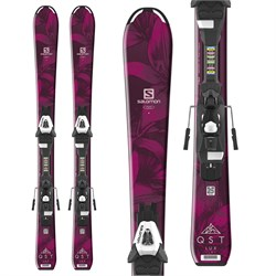 Salomon QST Lux Jr S Skis ​+ C5 Bindings - Little Girls'