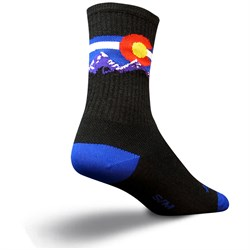 SockGuy Colorado Mountain Wool Crew Bike Socks