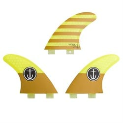 Captain Fin CF Small Twin Tab Tri Fin Set