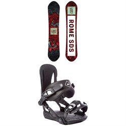 Rome Lo-Fi Rocker Snowboard - Women's + Rome Strut Snowboard Bindings - Women's