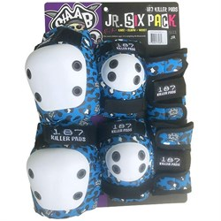 187 Junior Six Pack Skateboard Pad Set - Little Kids'