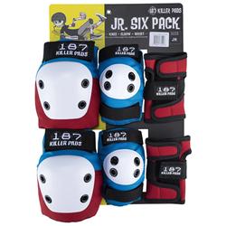 187 Junior Six Pack Skateboard Pad Set - Little Kids'