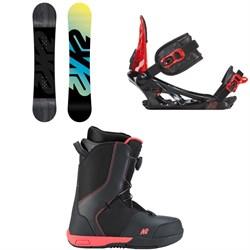 K2 Vandal Snowboard - Boys + K2 Vandal Snowboard Bindings - Boys + K2 Vandal Snowboard Boots - Boys' 2019