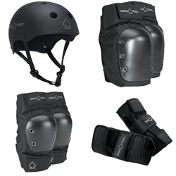 Pro-Tec The Classic EPS Helmet + Pro-Tec Street Knee Pads + Pro-Tec Street Elbow Pads + Pro-Tec Street Wrist Pads
