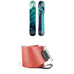 Jones Solution Splitboard - Women's 2019 + Jones Nomad Quick Tension Tail Clip Splitboard Skins