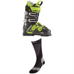 Lange RX 130 Ski Boots + Dissent Ski GFX Compression Hybrid Protect Socks