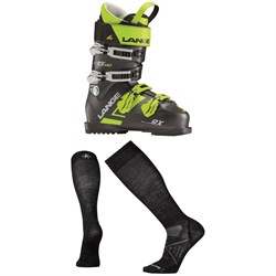 Lange RX 130 Ski Boots ​+ Smartwool PhD Ski Ultra Light Socks