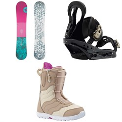 Rossignol Gala Snowboard - Women's 2019 + Burton Citizen Snowboard Bindings - Women's + Burton Mint Snowboard Boots - Women's 2018