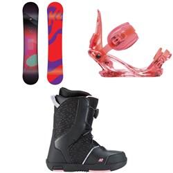 K2 Kandi Snowboard - Girl's + K2 Kat Snowboard Bindings - Girls' + K2 Kat Snowboard Boots - Girls' 2019