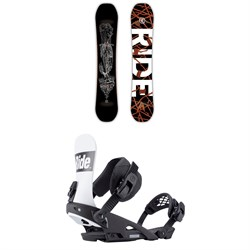 Ride Wildlife Snowboard + Ride Rodeo Snowboard Bindings 2019
