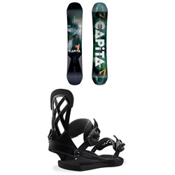 CAPiTA Defenders of Awesome Snowboard  + Union Contact Pro Snowboard Bindings 2019