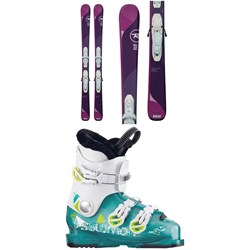 Rossignol Temptation Pro Skis ​+ Kid X 4 Bindings - Girls' ​+ Salomon T3 RT Girly Ski Boots - Girls'