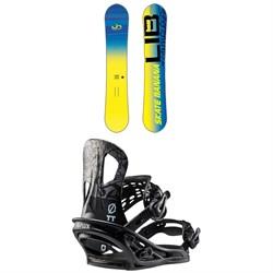 Lib Tech Skate Banana BTX Snowboard + Flux TT Snowboard Bindings