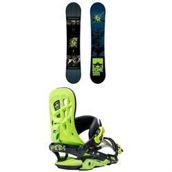 Rome Factory Rocker Snowboard + Rome 390 Boss Snowboard Bindings