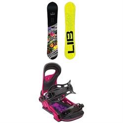 Lib Tech Skate Banana BTX Narrow Snowboard + Bent Metal Upshot Snowboard Bindings 2019