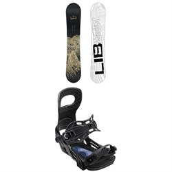 Lib Tech Skate Banana BTX Snowboard + Bent Metal Joint Snowboard Bindings 2019