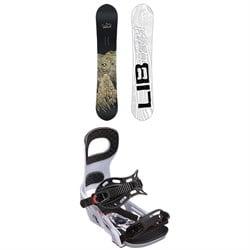 Lib Tech Skate Banana BTX Snowboard + Bent Metal Joint Snowboard Bindings