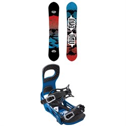 GNU T2B Snowboard ​+ Bent Metal Joint Snowboard Bindings