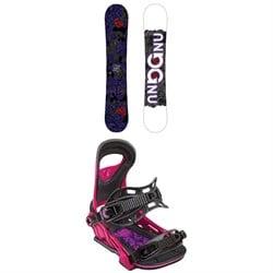 GNU Asym B-Nice BTX Snowboard - Women's + Bent Metal Upshot Snowboard Bindings - Women's 2019