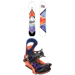 GNU Klassy C2X Snowboard - Women's + Bent Metal Upshot Snowboard Bindings - Women's