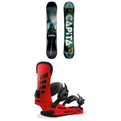 CAPiTA Defenders of Awesome Snowboard + Union STR Snowboard Bindings 2019