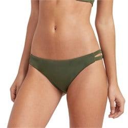RVCA Solid Full Tab Side Bikini Bottoms - Women's