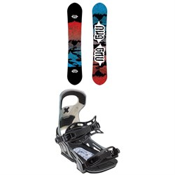 GNU T2B Snowboard ​+ Bent Metal Logic Snowboard Bindings