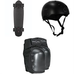 Globe Blazer Cruiser Complete + Pro-Tec Classic Skate Skateboard Helmet + Pro-Tec Street Skateboard Knee Pads
