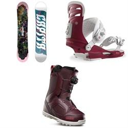 CAPiTA Paradise Snowboard - Women's + Union Rosa Snowboard Bindings - Women's + thirtytwo STW Boa Snowboard Boots - Women's 2019