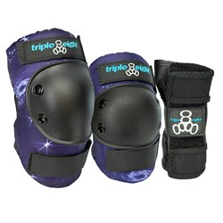 Triple 8 Galaxy 3 Pack Skateboard Pad Set - Kids'