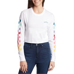 Vans Rain Checks Long-Sleeve Crop T-Shirt - Women's