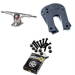 Paris V2 50 Degree 180 Longboard Trucks ​+ Paris Longboard Riser Pads ​+ Sector 9 Bolt Pack Longboard Hardware