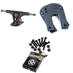 Paris V2 50 Degree 150 Longboard Trucks ​+ Paris Longboard Riser Pads ​+ Sector 9 Bolt Pack Longboard Hardware