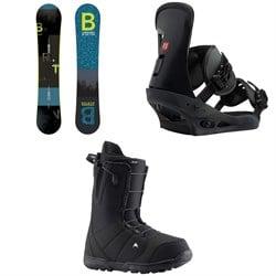 Burton Ripcord Snowboard + Burton Freestyle Snowboard Bindings + Burton Moto Snowboard Boots 2019