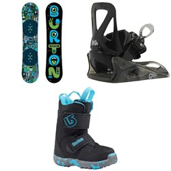 Burton Chopper Snowboard + Burton Grom Snowboard Bindings - Little Kids' + Burton Mini Grom Snowboard Boots - Little Kids' 2019